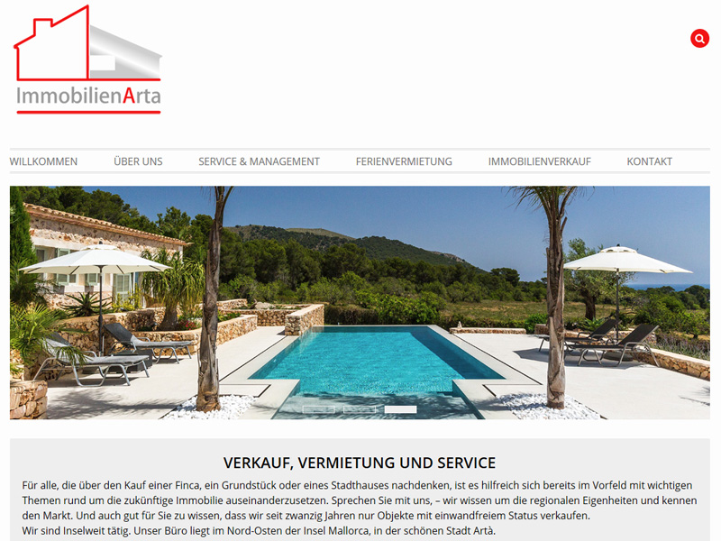 Website, Webdesign Mallorca