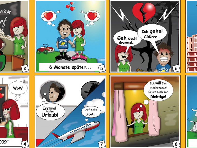 Comic Strip + Printdesign